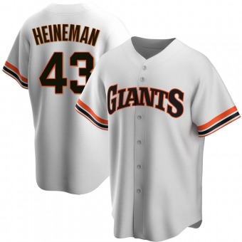 Replica San Francisco Giants Tyler Heineman Home Cooperstown Collection Jersey - White
