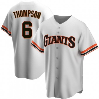 Youth Replica San Francisco Giants Robby Thompson Home Cooperstown Collection Jersey - White